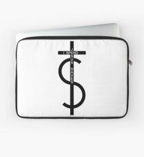 Jesus saves. I spend. (Black) Laptop Sleeve