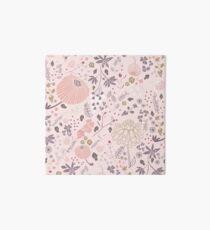 Field of Flowers in Pink and Purple Art Board