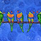 Rainbow Lorikeets by Lisafrancesjudd