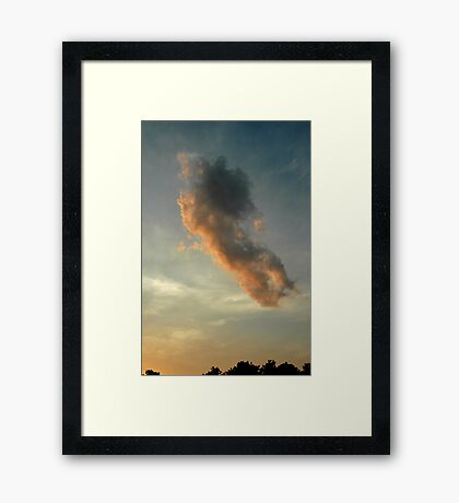 Casper above the Trees Framed Print
