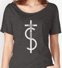 Jesus saves. I spend. (White) Women's Relaxed Fit T-Shirt