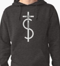 Jesus saves. I spend. (White) Pullover Hoodie