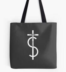 Jesus saves. I spend. (White) Tote Bag
