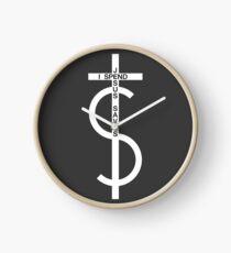 Jesus saves. I spend. (White) Clock