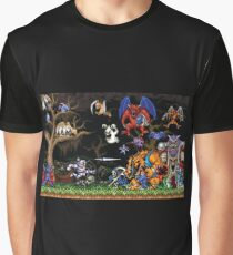 Ghouls 'n ghosts characters Graphic T-Shirt