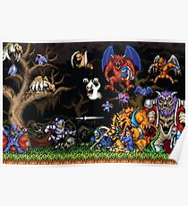 Ghouls 'n ghosts characters Poster