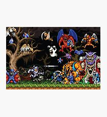 Ghouls 'n ghosts characters Photographic Print