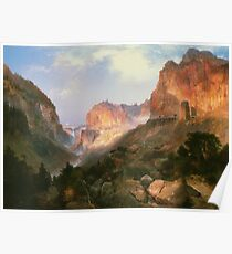 Golden Gate, Yellowstone National Park by Thomas Moran Poster