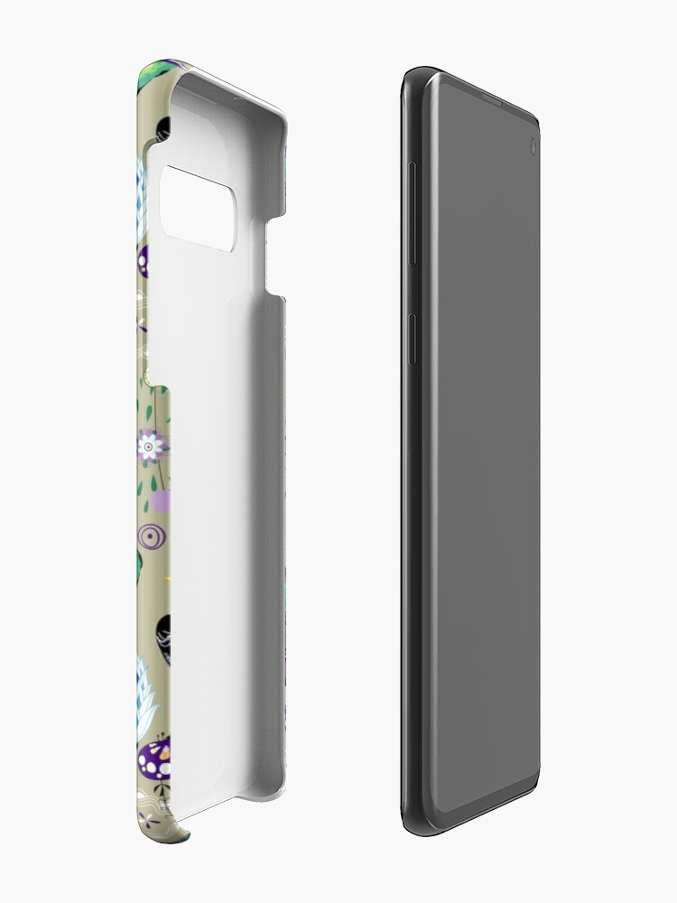Alternate view of floral pattern with birds Case & Skin for Samsung Galaxy