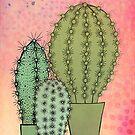 Cacti trio by Bronia Sawyer