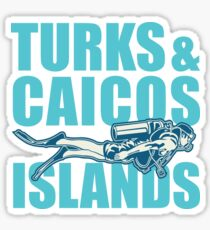 Turks and Caicos Islands - Scuba Sticker
