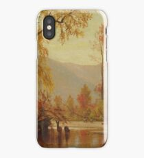 Autumn on the Delaware by Worthington Whittredge iPhone Case/Skin