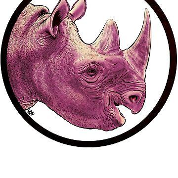 Happy Rhino by MrFoz