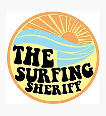 Surfing Sheriff Photographic Print