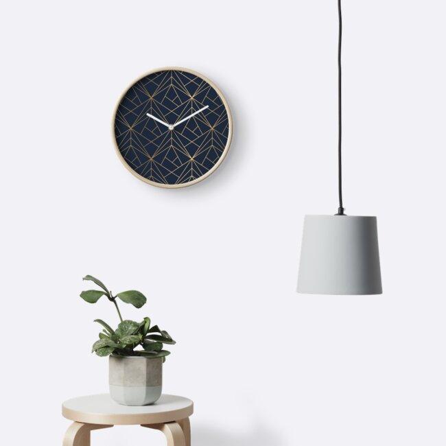 Elegantes geometrisches Kupfer Marineblau von Kleynard Agustin