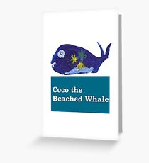 Coco the Beached Whale Greeting Card