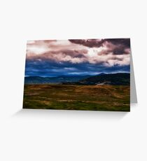 Montana Mountain Storm Greeting Card