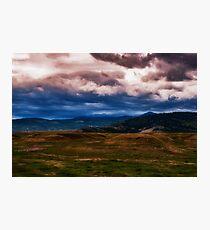 Montana Mountain Storm Photographic Print