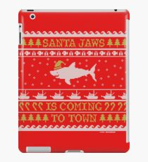 Santa Jaws Ugly Sweater iPad Case/Skin