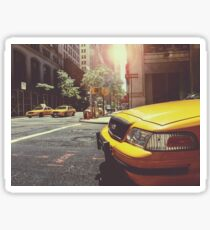 Taxi Cabs In New York City NYC Sticker