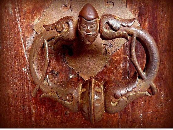 Medieval Door Knocker by Charmiene Maxwell-Batten