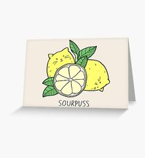 Sourpuss (colourised) Greeting Card