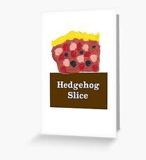Hedgehog Slice Greeting Card