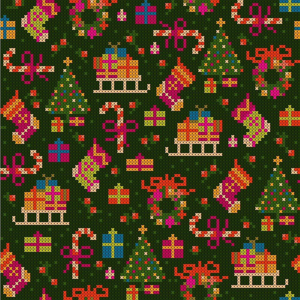 christmas x stitch pattern for the holiday mood by nuanz