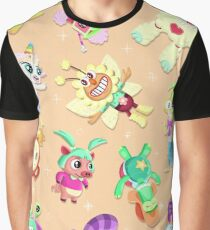 Cartoon collage Graphic T-Shirt