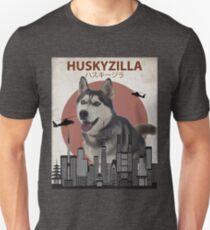 Huskyzilla - Giant Siberian Husky Dog T-Shirt