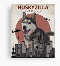 Huskyzilla - Giant Siberian Husky Dog Canvas Print