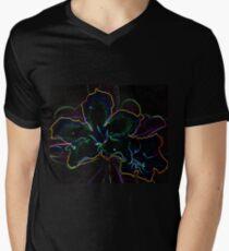 Flower Glow T-shirt Men's V-Neck T-Shirt