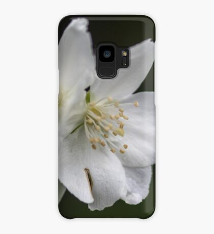 White Spring Flowers Case/Skin for Samsung Galaxy