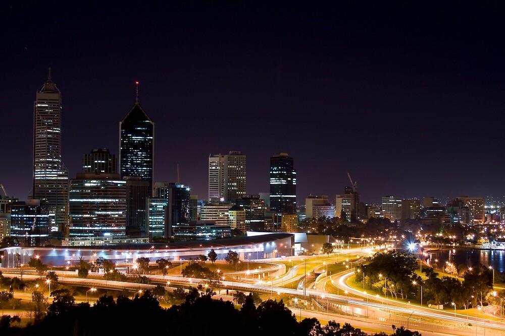 Perth Skyline by David  Polette