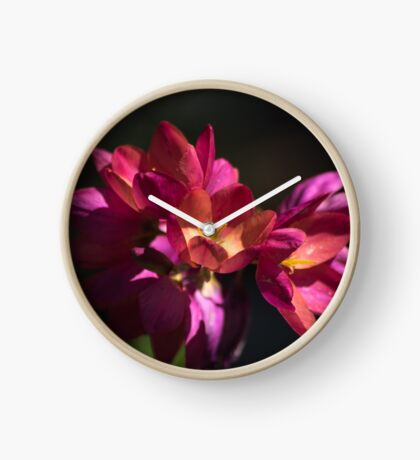 Flowers of Red and Pink Clock