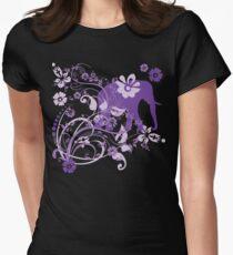 Beautiful Purple Floral Elephant Swirls T-Shirt
