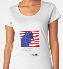 Thank You - Country Western Horse in Red, White and Blue Women's Premium T-Shirt