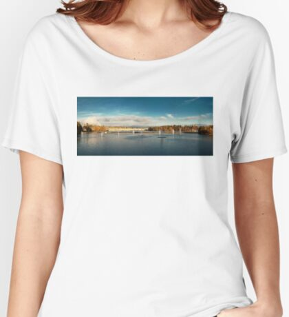 Oulu panorama Women's Relaxed Fit T-Shirt