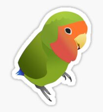 Cute Peach Face Lovebird Sticker