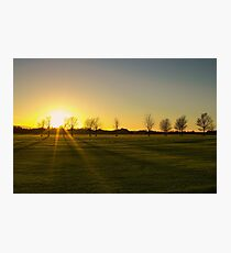 Sunset in the Phoenix Park, Dublin Photographic Print
