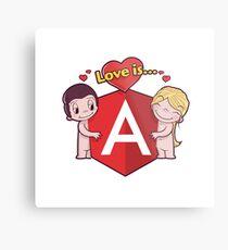 Angular Sticker Love Is Series Metal Print