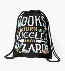Bücher verwandeln Muggel in Zauberer Turnbeutel