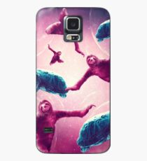 Crazy Funny Space Sloth With Turtle  Case/Skin for Samsung Galaxy