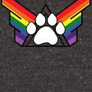 United Family of Pup Play: Rainbow Pride by NerdyDoggo
