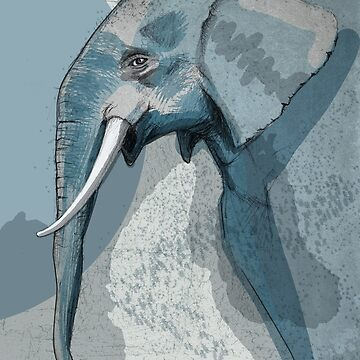 Blue Elephant - Animals of the World von CGoltz