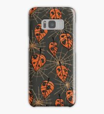 Orange Leaves With Holes And Spiderwebs Samsung Galaxy Case/Skin