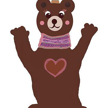 Mrs Bear Party Mood  by Manitarka