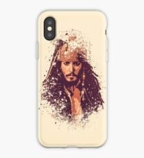 Pirates of the Caribbean, Jack Sparrow splatter iPhone Case