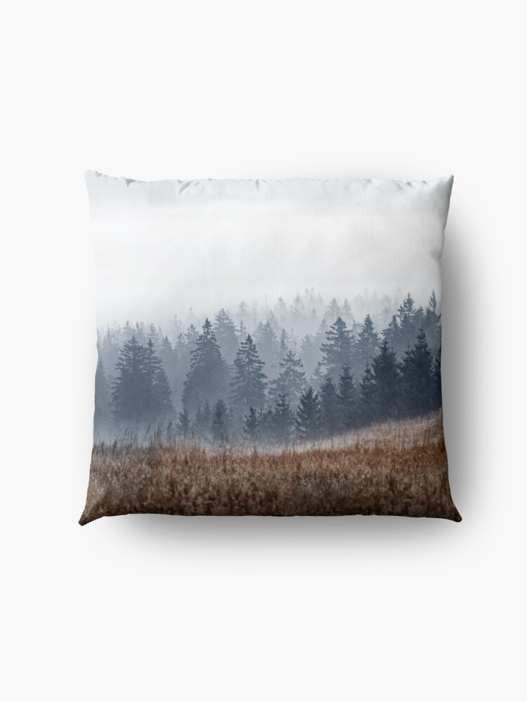 Alternate view of Lost In Fog Floor Pillow