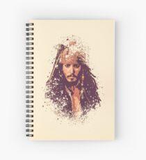 Cuaderno de espiral Piratas del Caribe, salpicadura de Jack Sparrow